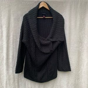 Torrid Black Button-up Cardigan Knit Sweater